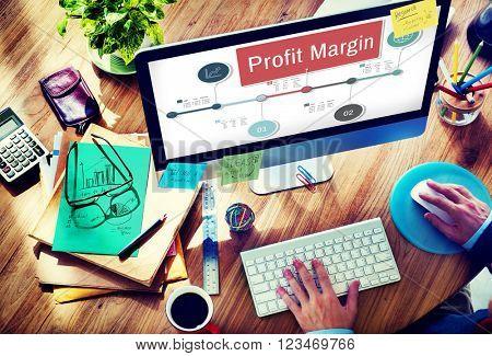 Profit Margin Finance Income Revenue Costs Sales Concept