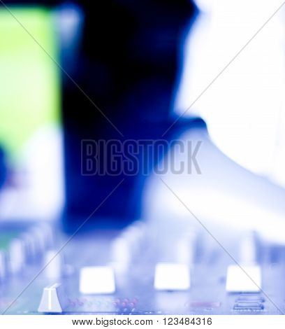 Deejay Mixing Desk Dj Party