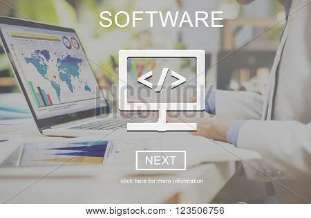 Software Business Data Development Digital Concept
