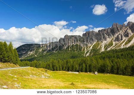 The Great Dolomite Road is a breathtaking scenic drive that crosses the alpine passes, connecting the Bozen and Bolzano regions. ** Note: Soft Focus at 100%, best at smaller sizes
