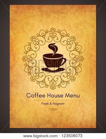 Menu for restaurant, cafe, bar, coffee house