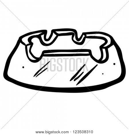 black and white ashtray cartoon