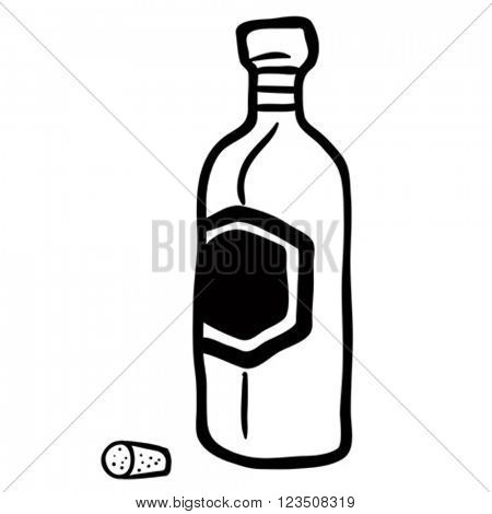 black and white bottle cartoon
