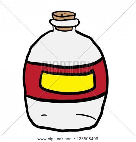 empty bottle cartoon