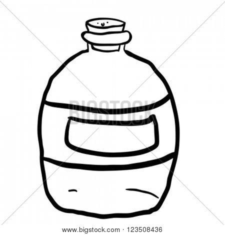 black and white empty bottle cartoon