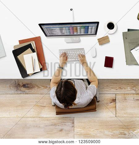 Business Finance Report Spreadsheet Working Concept