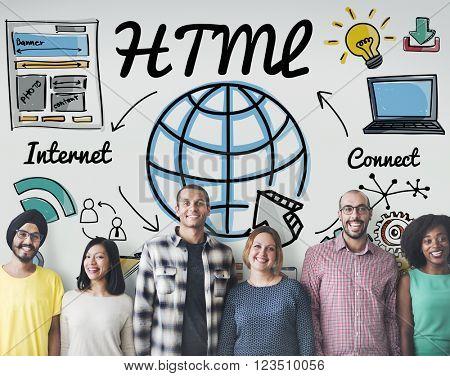 HTML Global Communication Software Internet Concept