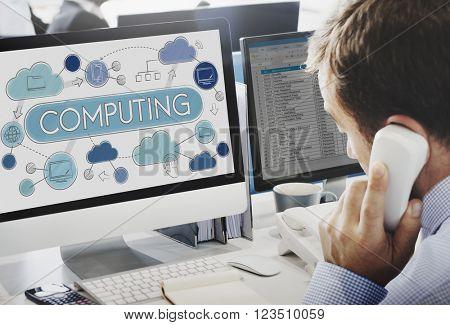 Cloud Computing Network Data Storage Technology Concept