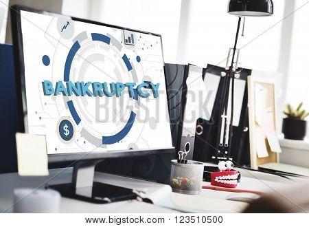 Bankruptcy Debt Loss Recession Financial Banking Concept