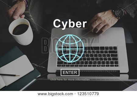 Cyber Internet Technology Information Website Concept