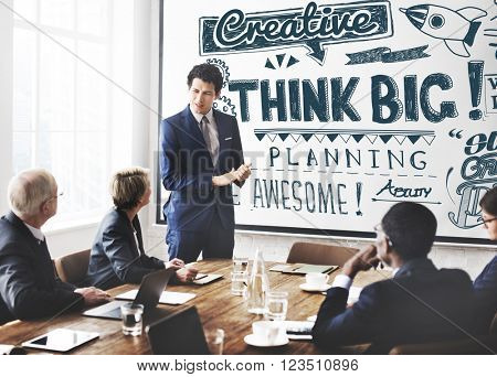 Think Big Attitude Believe Optimism Concept