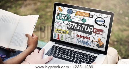 Start up Ideas Launch Mission Opportunity Concept
