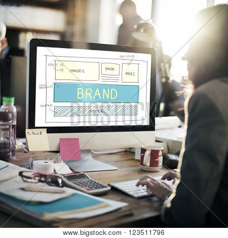 Brand Trademark Marketing Website Plan UI Concept