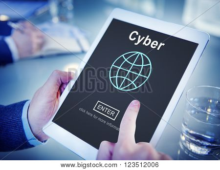 Cyber Internet Online Connection Globalization Concept