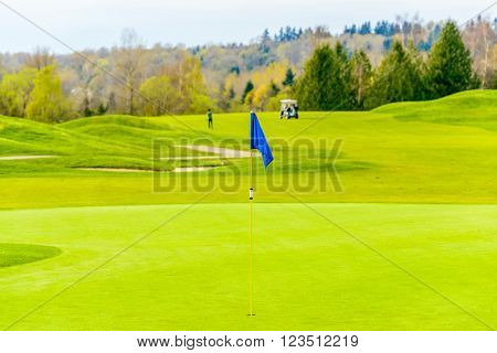 Golf course with gorgeous green