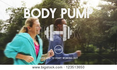 Body Pump Body Weight Exercise Concept