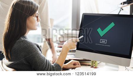 Check Icon Correct Element Next Concept