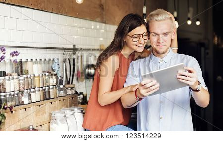 Couple Relationship Cooking Sweet Concept