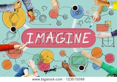 Imagine Imagination Expect Creative Icons Concept