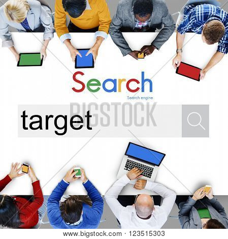 Target Aim Goal Aspirations Marketing Strategy Concept