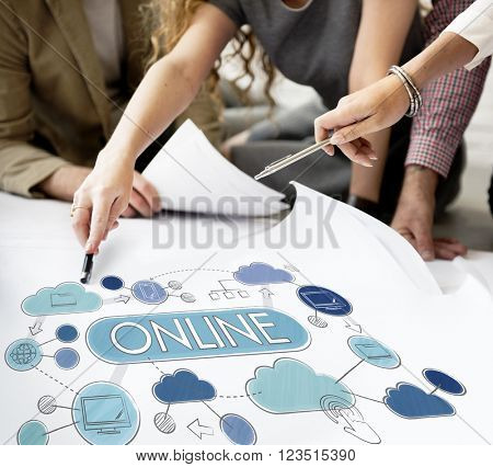 Online Communication Internet Connection Networking Concept