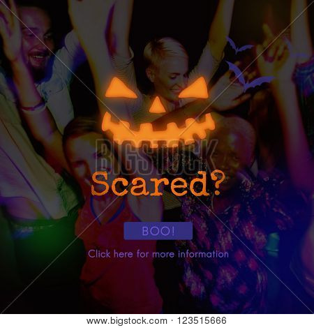 Scared Fear Afraid Scream Shout Horror Facial Concept