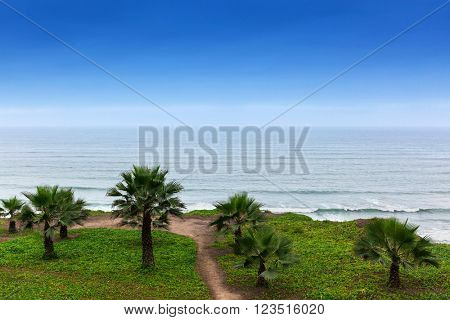 park on the shores of the Pacific Ocean