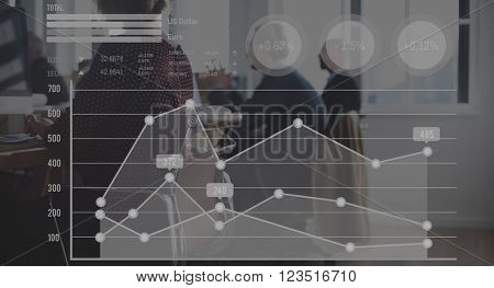 Statistics Business Data Analysis Growth Report Concept