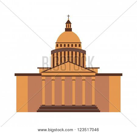 White house washington DC United States landmark government vector.