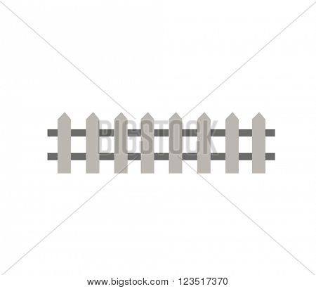 Wooden fence garden wall picket vector illustration.
