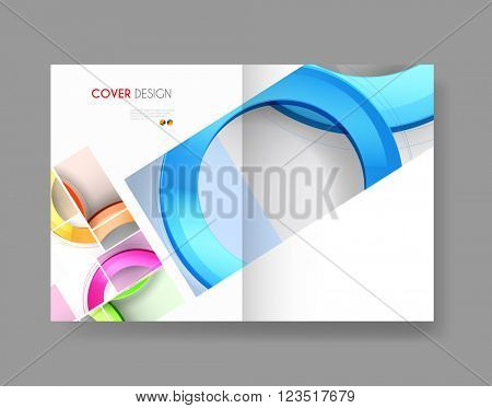 Cover Annual Flyer Poster easy all editable