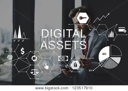 Digital Assets Business Management System Concept
