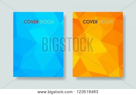 Cover Annual Flyer Poster Magazine easy all editable