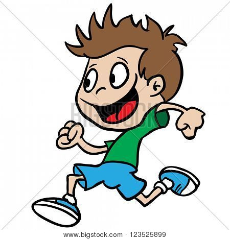 boy running cartoon