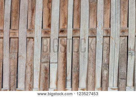 Close up bamboo fence background, stock photo