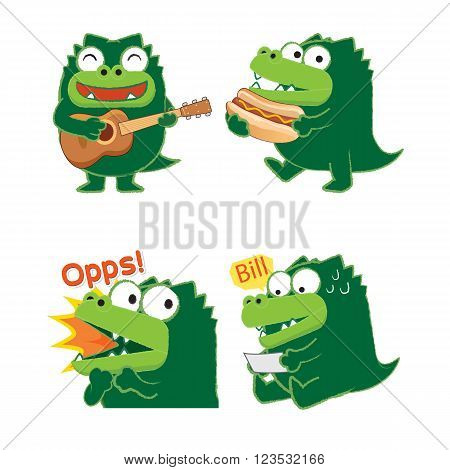 Emotion of crocodile , crocodile sing a song