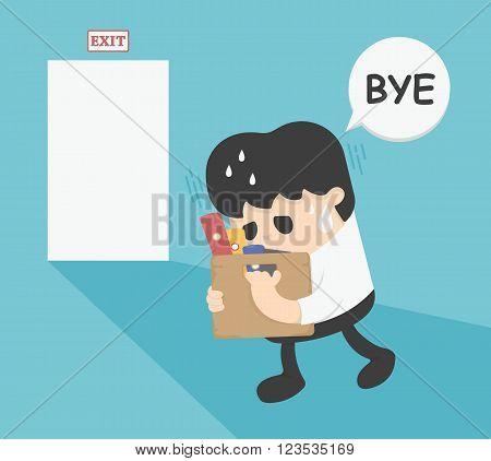 Businessman Leaving Job vector eps .10 Illustration