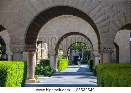 Palo Alto, Ca/usa - Circa June 2011: Stanford University Campus In Palo Alto,  California