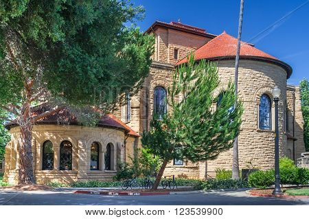 Palo Alto, Ca/usa - Circa June 2011: Back Of Memorial Church In Main Quad Of Stanford University Cam