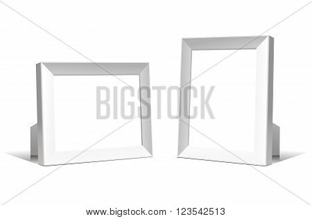 Multifunction empty white frames. Realistic Vector illustration isolated on white background.