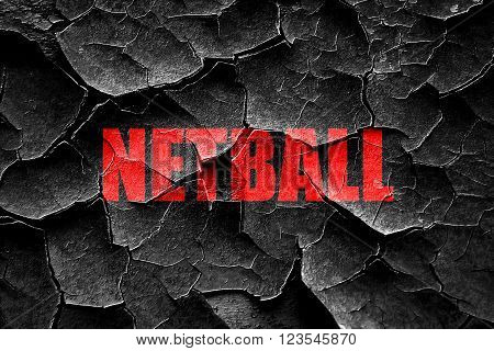 Grunge cracked netball sign background with some soft smooth lines