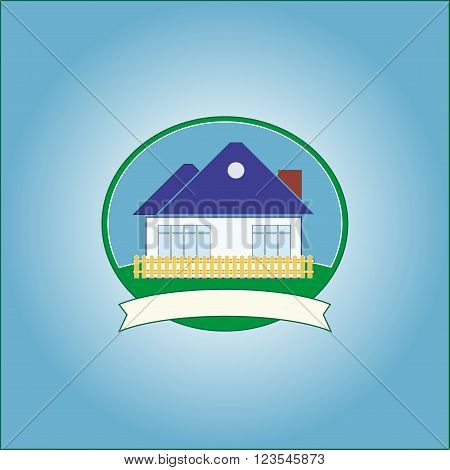 Vector house home graphic illustration - stock label