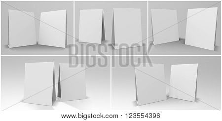 Table Tent 3D Render is a set of 5 professional Table Tent perspectives optimized for 80 x 105 mm designs. You can use this render for marketing campaigns brand marketing and client presentations.