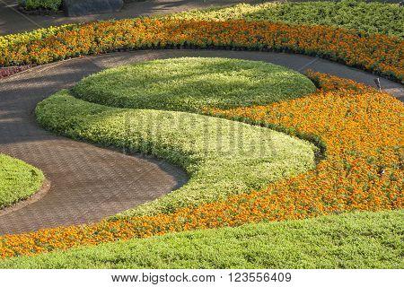Gardening art in the park, Pattaya, Thailand