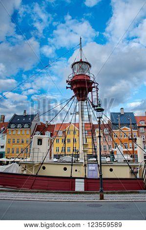 Port of Nyhavn in Copenhagen Danmark Europe