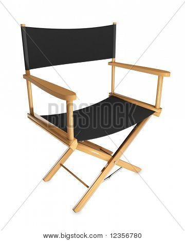 Director's chair on white background