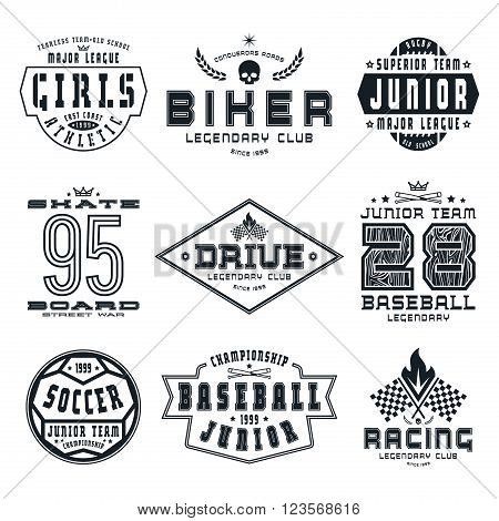 Set Of Sports Emblems