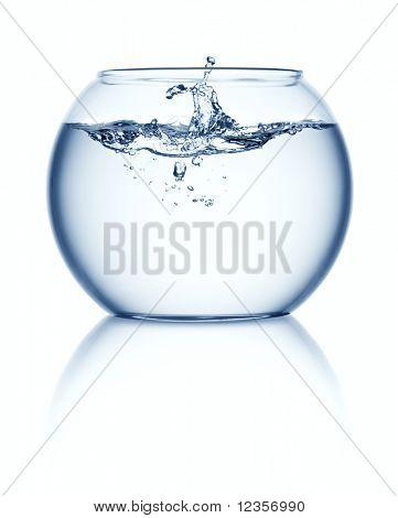 Splashing in empty fish bowl