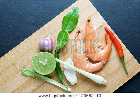 Tom Yum Goong thai food,popular thai food,ingredient
