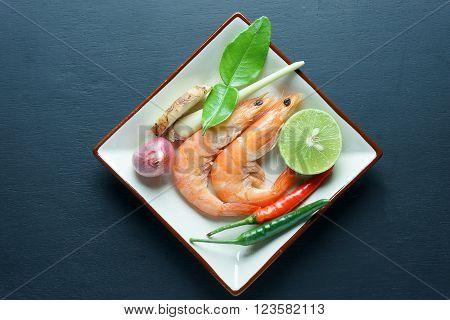Tom Yum Goong thai food,popular thai food, ingredient
